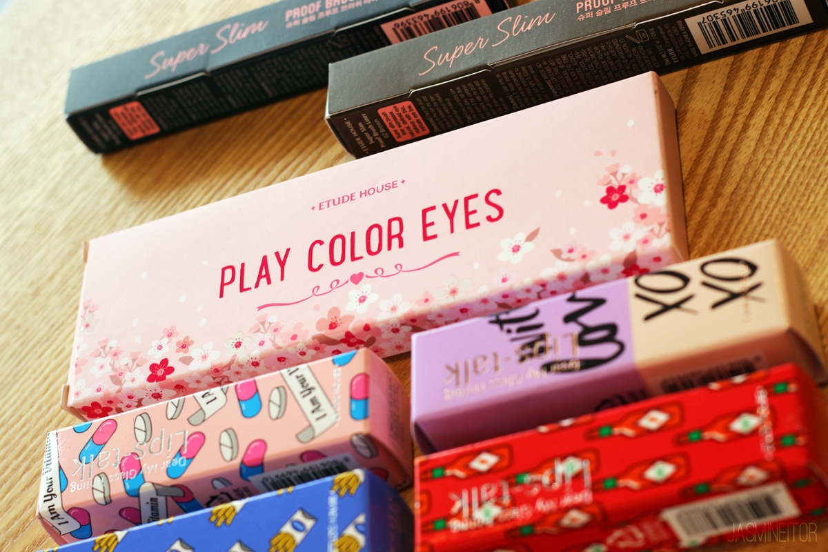 Etude House Play Color Eyes Cherry Blossom Palette & Super Slim Proof Brush Liner Review